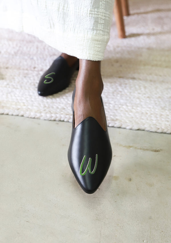 Monogram Black Loafer