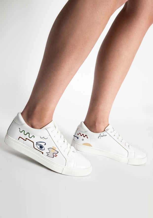 Linear Expressionism White Sneaker 1