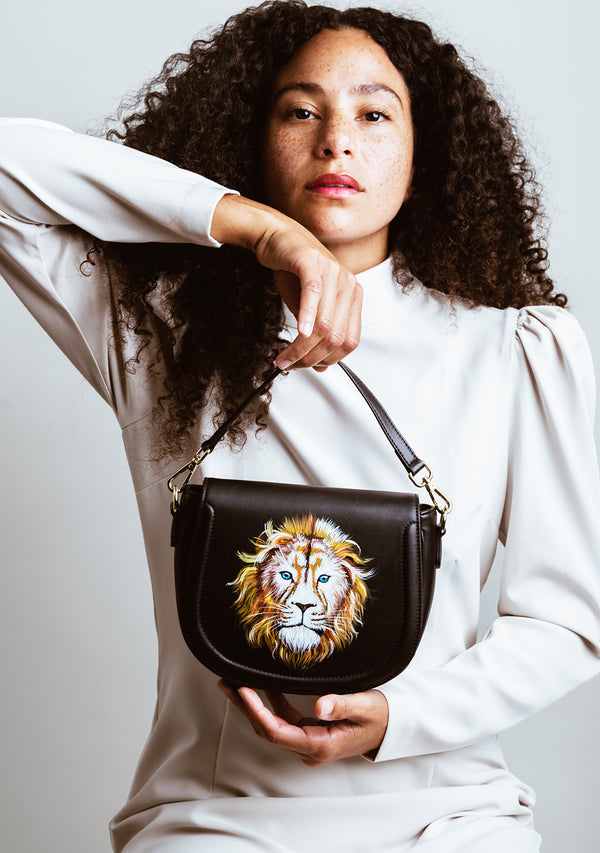 Lion Black Bag