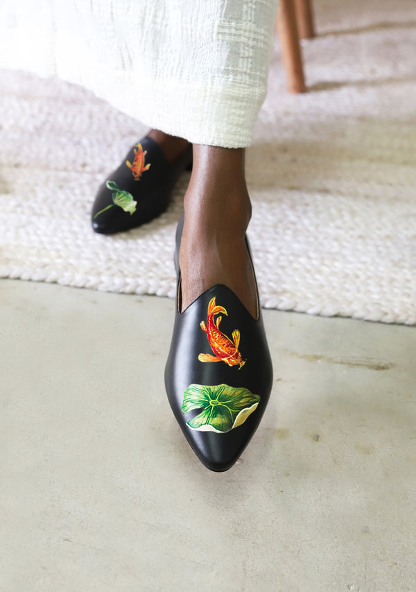 Lily and Koi Black Loafer