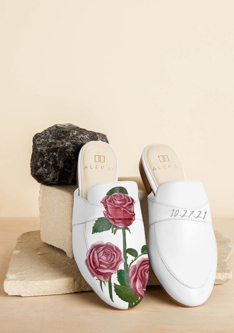 Bridal Bouquet White Mule