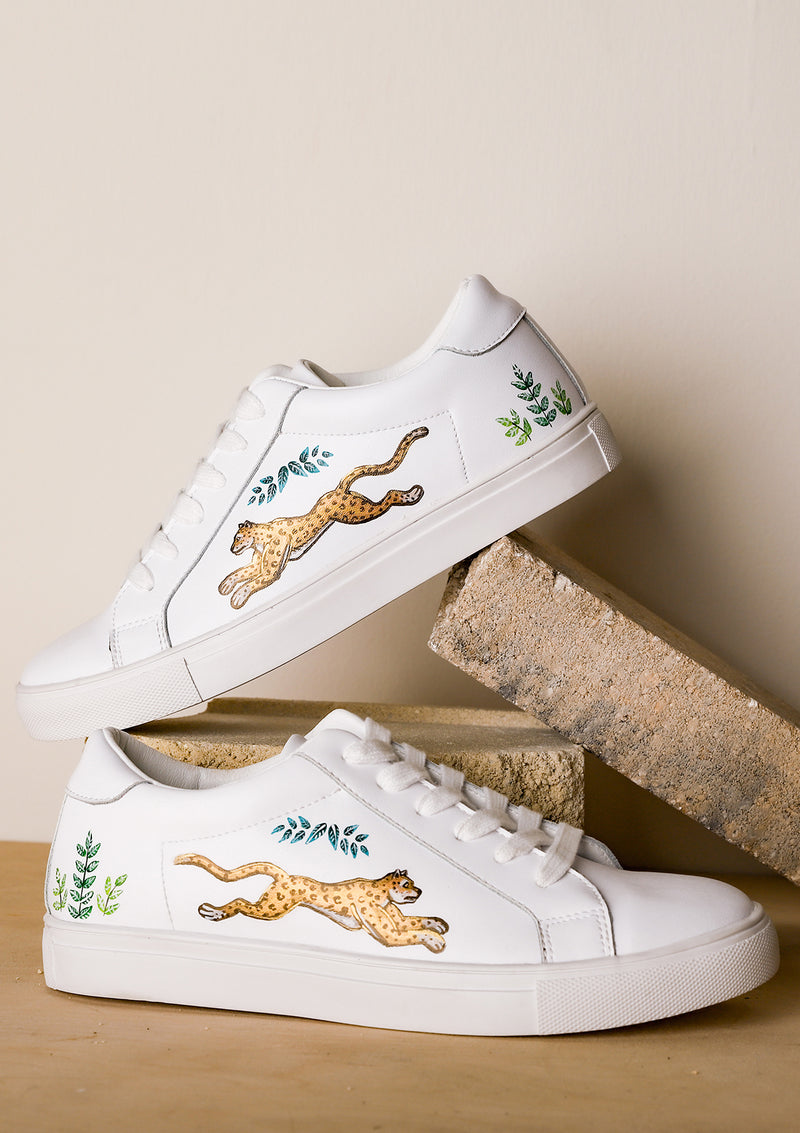 Golden Leopards White Sneaker