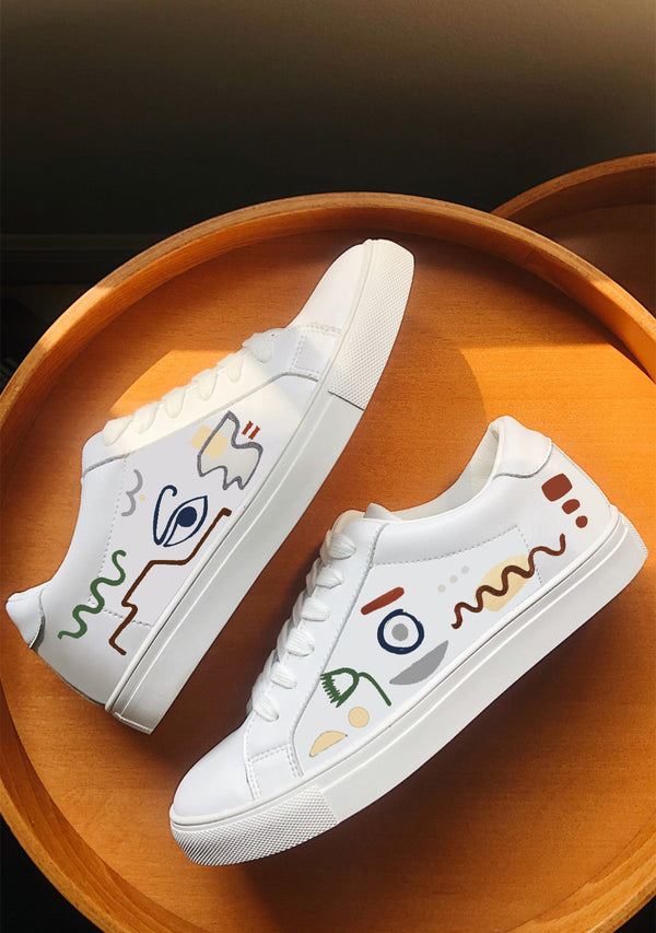Linear Expressionism White Sneaker