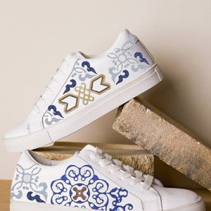 Moroccan Ornate White Sneaker