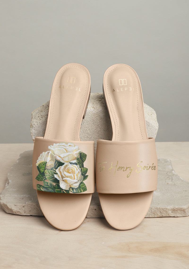Bridal Bouquet Beige Slide