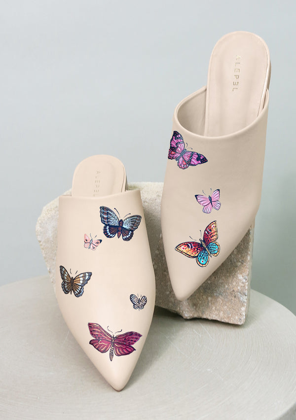 Butterflies Beige Pointe