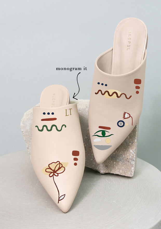 Linear Expressionism Beige Pointe 1