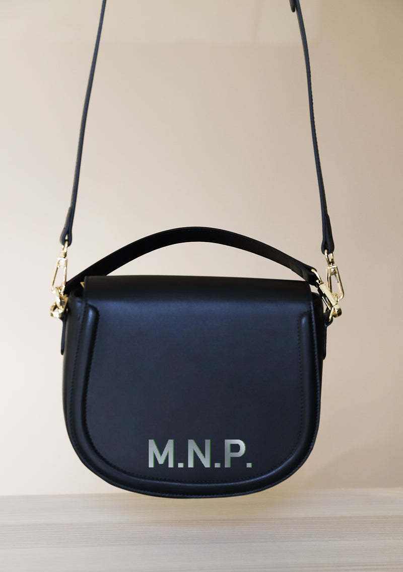 Simply You - Monogram Black Leather Bag
