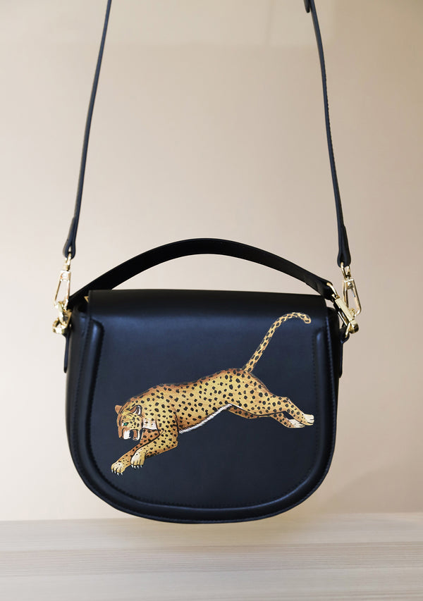Leopard Black Bag