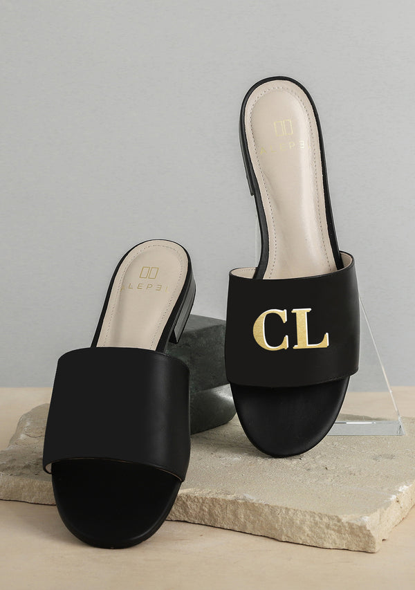 Monogram Black Slide