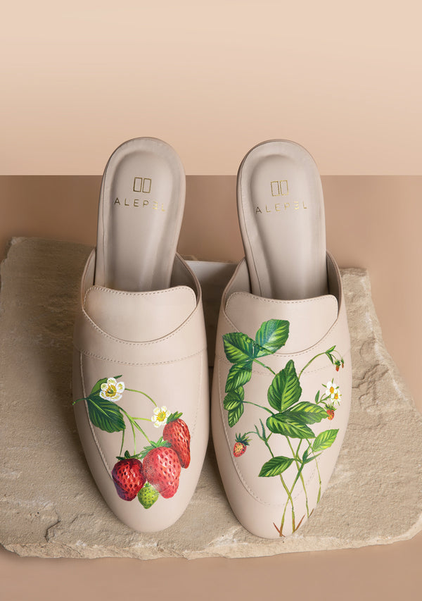 Strawberry Fields Beige Mule