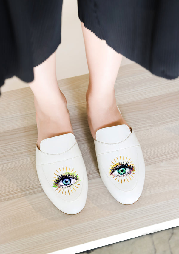 Intuition Eyes White Mule