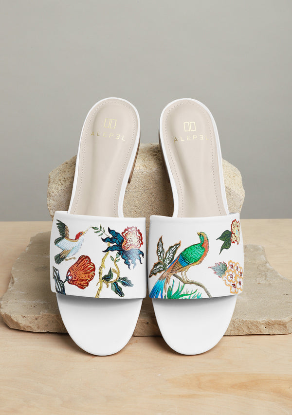 Bird Floral White Slide