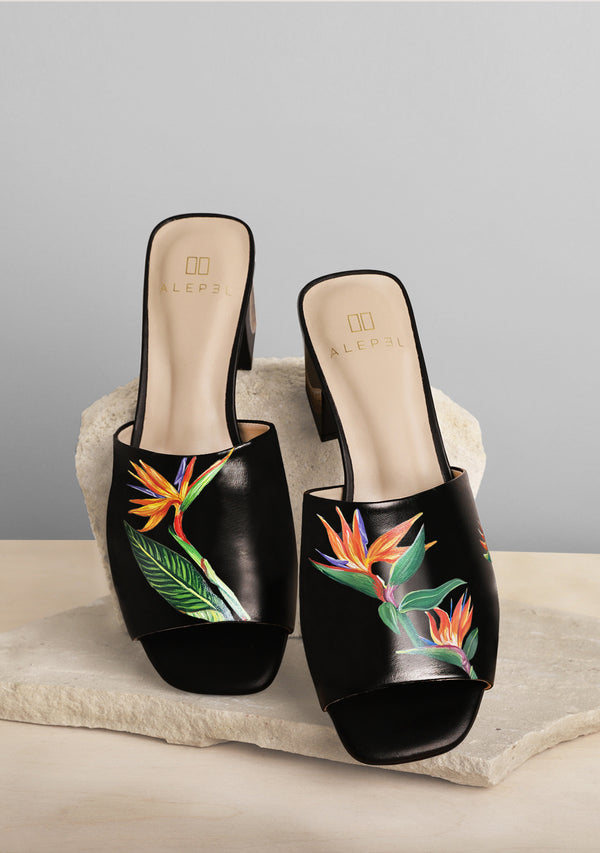 Bird of Paradise Black Heel
