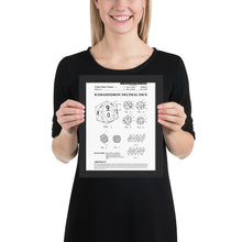 Load image into Gallery viewer, Framed d20 Patent Poster