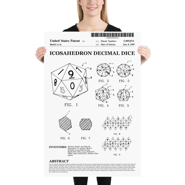 d20 Patent Poster