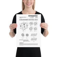 Load image into Gallery viewer, d20 Patent Poster