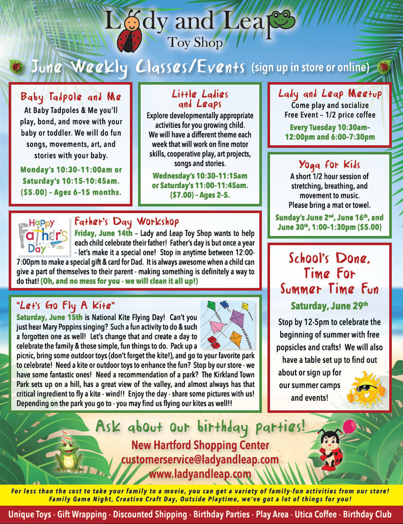 Lady and Leap June 2019 Calendar Of Events