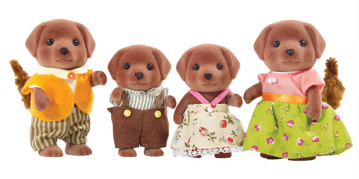 Epoch Calico Critters Chocolate Labrador Family