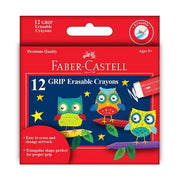 Faber-Castell 12 ct Grip Erasable Crayons