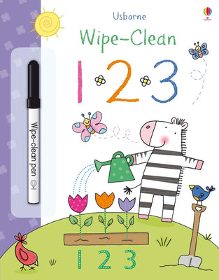 Wipe-clean 1 2 3 Activity Book by Usborne