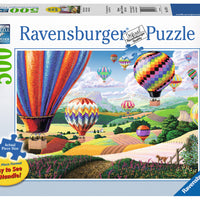 Brilliant Hot Air Balloons 500 Piece Jigsaw Puzzle by Ravensburger