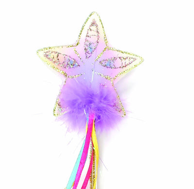 Glitter Rainbow Wand by Great Pretenders