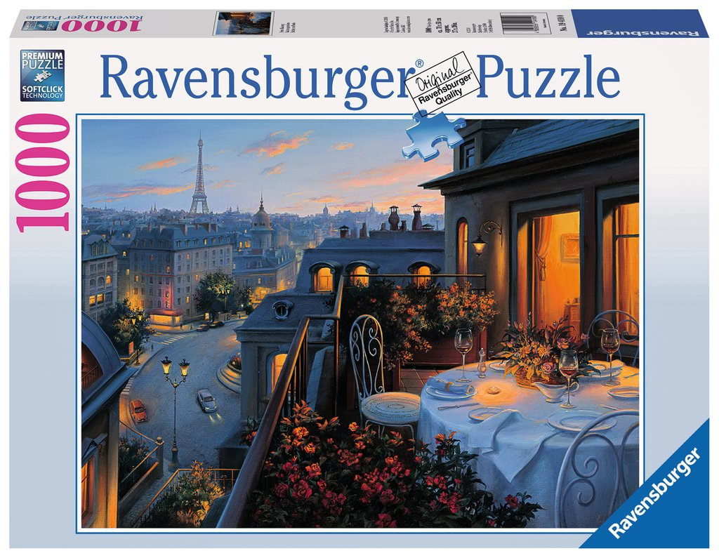 Paris Balcony 1000 Piece Jigsaw Puzzle by Ravensburger
