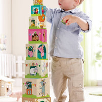 On the Farm Stacking Cubes by HABA