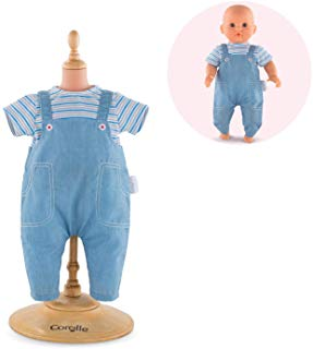 "Corolle  12"" Striped T Shirt & Overalls for your doll"