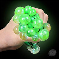 "3"" Light-Up Mesh Squish Glitter Ball Toy"