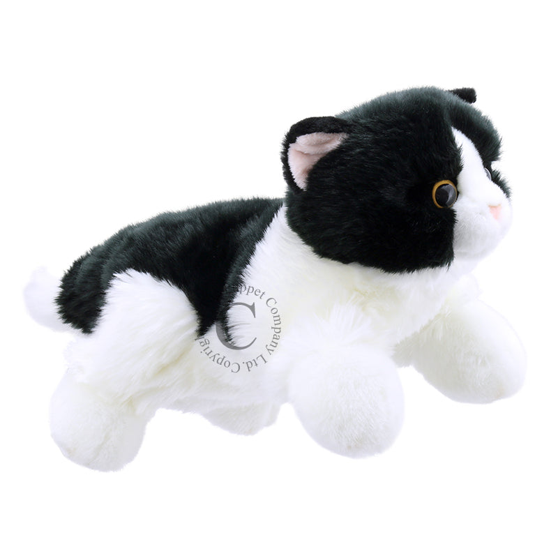 Full Bodied Cat Puppet - Black and White by The Puppet Company
