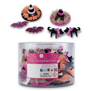 Pink Poppy Halloween party hair clips