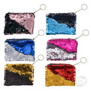 "5.75""x 3.75"" Mermaid Flip Sequin Key chain Purse"
