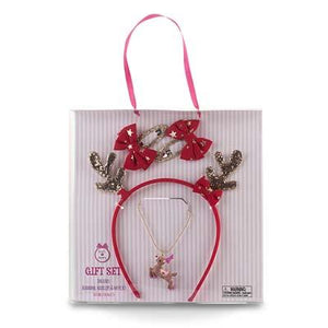 Pink Poppy Reindeer Accessory gift set