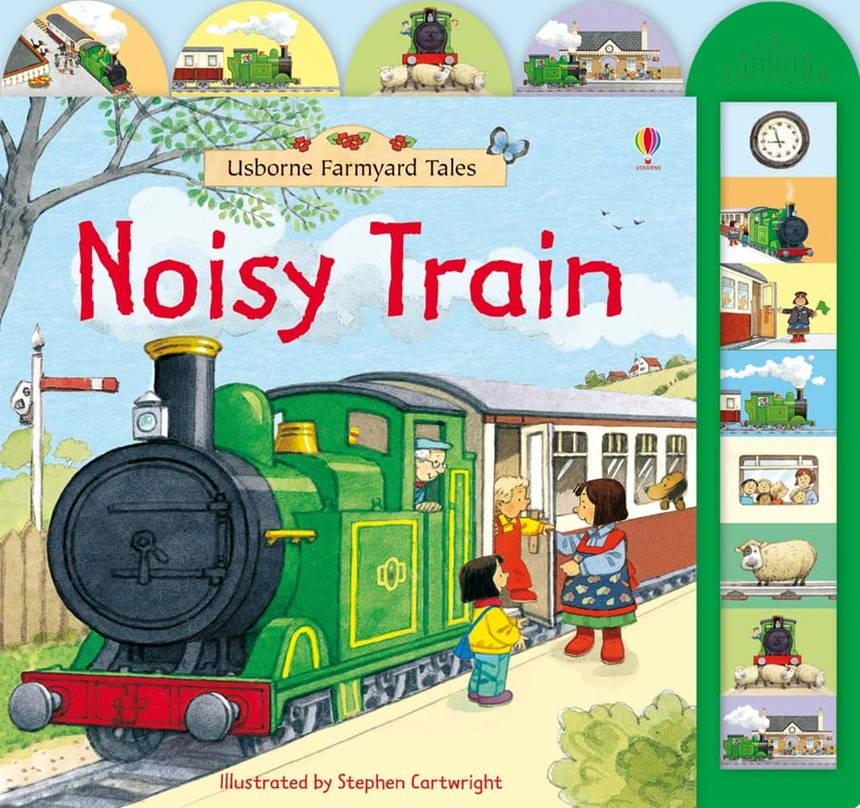 Noisy Train book by Usborn