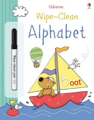 Wipe-clean Alphabet Activity Book by Usborne