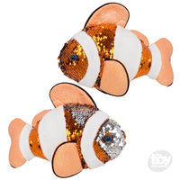 "Toy Network 10"" Sequin Clown fish"