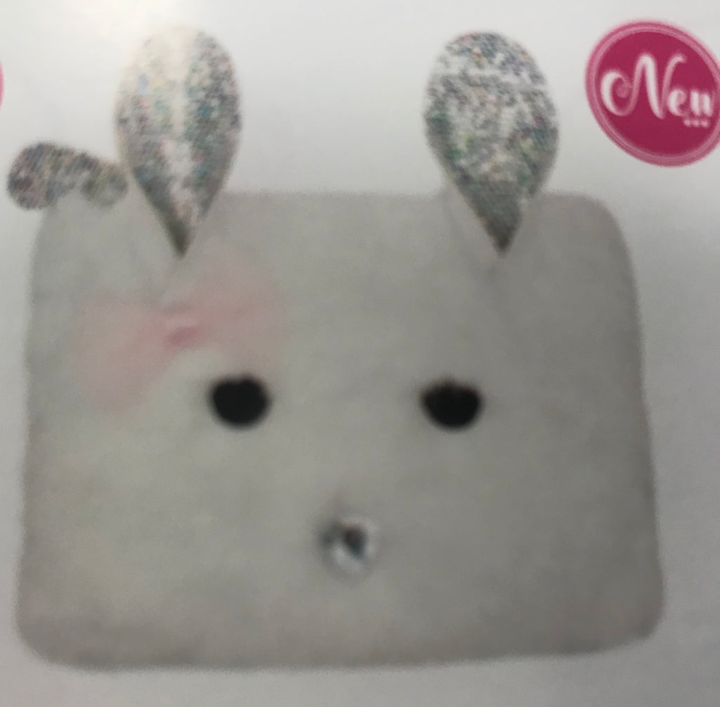 Pink Poppy Bunny Coin Purse