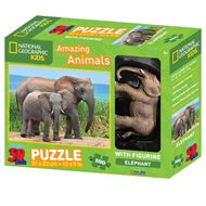 Giftcraft Elephants Design 3D Kids Puzzle & Figurine (100pcs.)
