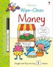 Usborne Wipe Clean Money activity book
