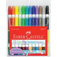 Faber-Castell 12 ct Duo tip Washable Markers