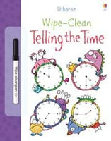 Usborne Wipe Clean telling the time