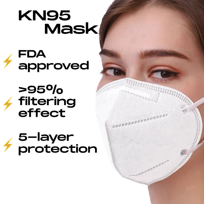 KN95 Safety Respirator Face Masks Virus Mesh Mask With Ear Loop 5 Layer Protection