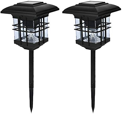 Outdoor Solar Column Headlights - Solar Post Light Outdoor Lights Deck Garden Fence Lanscape Lamp 2