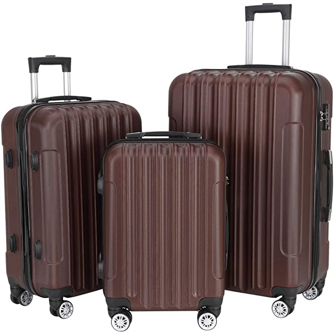 "3-in-1 Luggage Set,Multifunctional Large Capacity Traveling Storage Suitcase 20"" / 24"" / 2"