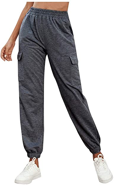 TAINAN Women's Active High Waisted Lightweight Baggy Workout Sweatpants Joggers Lounge Pants Sportsw