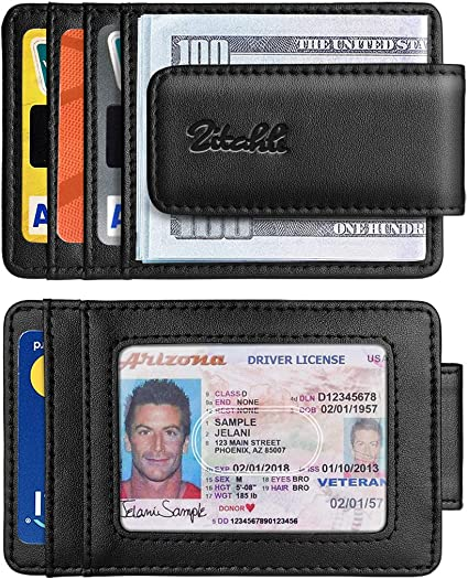 Zitahli Money Clip Wallet For Men,Front Pocket Card Holder Slim Wallet With Strong Magnetic,RFID Blo