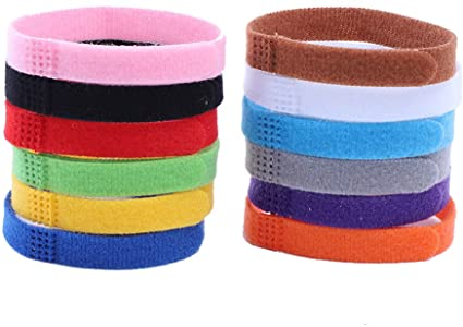 12 Colors Puppy Pet Collars,Soft Nylon Adjustable Breakaway Safety with Record Keeping Charts,for Ne