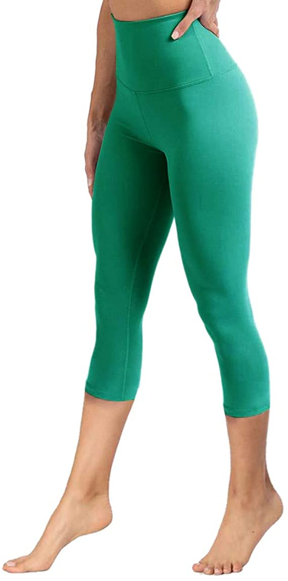 YOLIX Womens High Waisted Leggings-One/Plus Size-Super Soft & Slim for Athletic, Workout, Usual